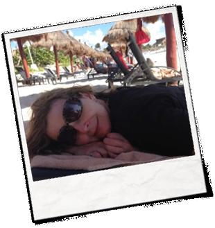 Kim Farwell at the beach