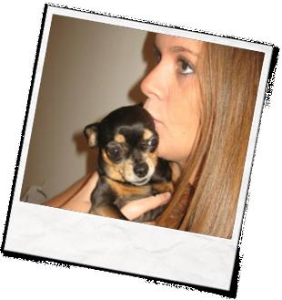Laura Paul kissing a puppy
