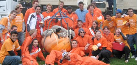 A gang of orange engineers