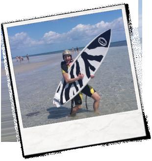 Shaine Dinsdale on the beach